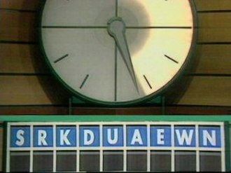 Countdown (game show) - The letters of a round during a 1991 episode in which both contestants declared the word wankers.