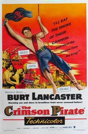 The Crimson Pirate - Theatrical release poster