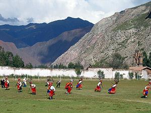 Urubamba, Peru - Dancers at the festival of El Senor de Turichayuq