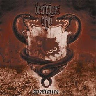 Defiance (Deströyer 666 album) - Image: Defiance (Deströyer 666 album cover art)