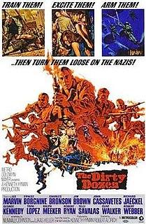 <i>The Dirty Dozen</i> 1967 film starring Lee Marvin, Ernest Borgnine and Charles Bronson
