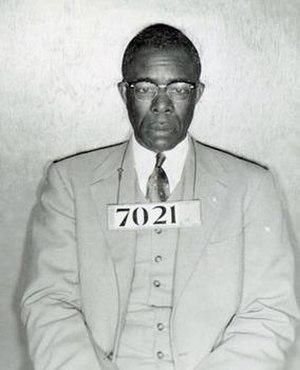 E. D. Nixon - 1955 bus boycott arrest photo of Nixon