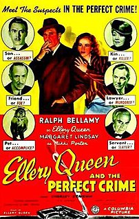 <i>Ellery Queen and the Perfect Crime</i> 1941 film by James P. Hogan