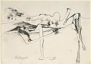 Emmy Bridgwater - Emmy Bridgwater, Untitled (1941), Pen and ink on paper