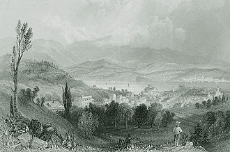 Hudson, New York - Image: Engraved View Of City Of Hudson Date Unknown