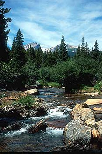 Fall River Pass - Image: Fall River Pass Creek