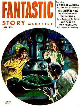 Earle K. Bergey - Earle K. Bergey cover illustration for Fantastic Story Magazine (January 1953)