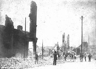 Great Fire of 1901 - Forsyth Street ruins.