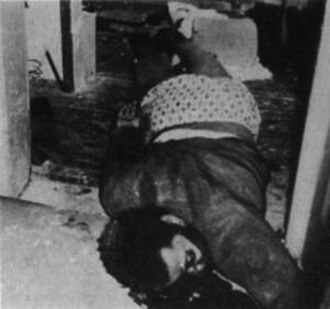 Black Power movement - Fred Hampton shot dead by police in late 1969.