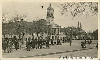 Sombor - Holy Trinity Square in 1941