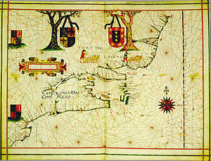 Portuguese colonization of the Americas - Portuguese North America (in present-day Canada); Vaz Dourado, c.1576.