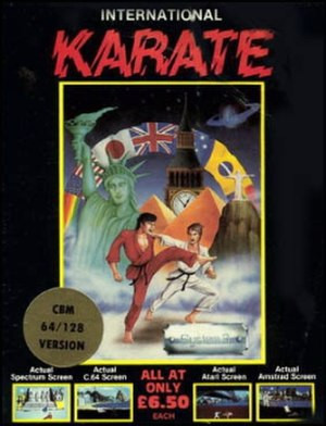 International Karate - Commodore 64 cover art for International Karate