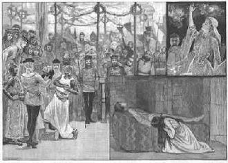 Waverley Novels - Scenes from the Illustrated London News of Arthur Sullivan's operatic adaptation of Ivanhoe.