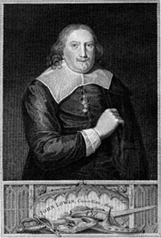 John Lowin - John Lowin, engraving by Thomas Holloway, from an original painting in the Ashmolean Museum, Oxford, England.