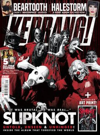 Kerrang! - Cover of 28 July 2018 issue of Kerrang! Featuring Slipknot