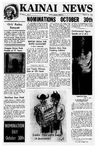 Kainai Nation - Kainai News, Volume 1, Issue 9, October 15, 1968