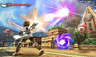 Kid Icarus: Uprising - Image: Kid Icarus; Uprising ground gameplay