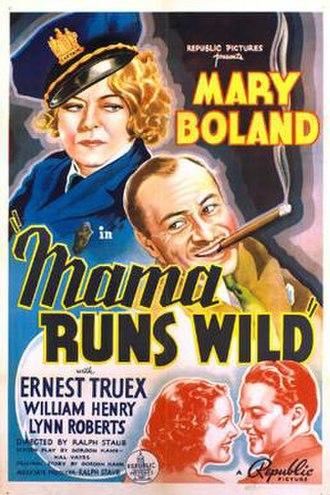 Mama Runs Wild - Theatrical release poster
