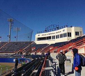 Alfred A. McKethan Stadium - Image: Mc Kethan Stadium Pressbox