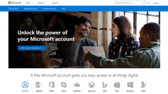 Microsoft account - Image: Microsoft account sign in