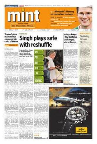 Mint (newspaper) - Image: Mint cover 03 28 10