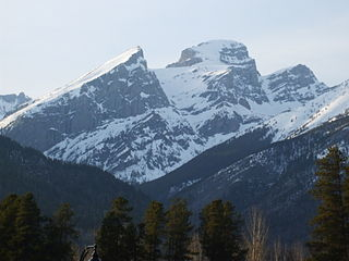 Three Sisters (Elk Valley) mountain north of Fernie, British Columbia, Canada