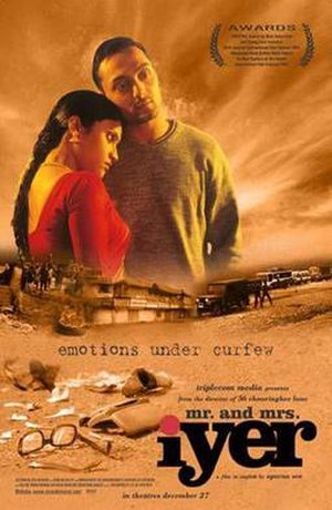 Mr. and Mrs. Iyer - Promotional poster for the film