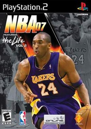 NBA (video game series) - Image: NBA 07 v 2 the life cover Kobe Bryant