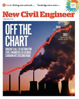 <i>New Civil Engineer</i> weekly magazine of the Institution of Civil Engineers