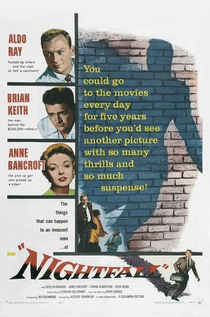 Nightfall (1957 film) - Theatrical release poster