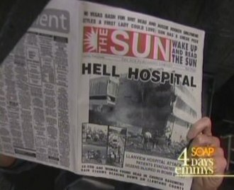 Llanview - The Sun, the alternate Llanview newspaper known for its radical headlines