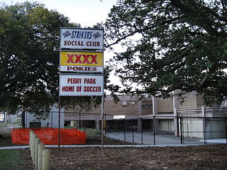 Perry Park, Brisbane - Sign outside the ground.
