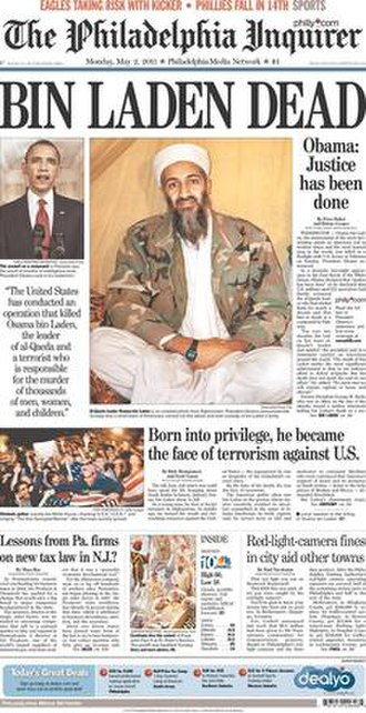 The Philadelphia Inquirer - Image: Philadelphia Inquirer 05022011