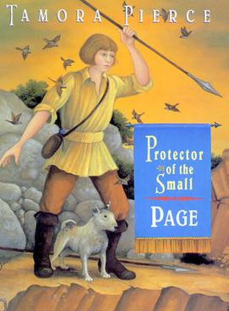 Page (novel) - Original Random House U.S. hardcover of the book featuring the title character.