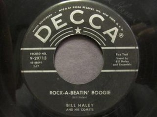 Rock-A-Beatin Boogie song performed by Bill Haley & His Comets