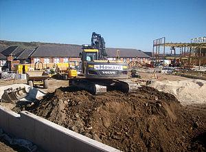 Stocksbridge High School - Construction work. April 2011.