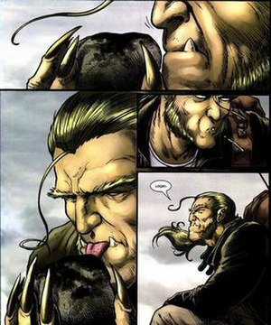 Sabretooth (comics) - Sabretooth using his tracking skills to find Wolverine.