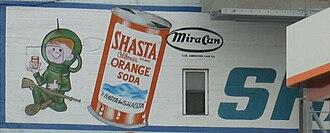 Shasta (soft drink) - Partially obscured vintage billboard for Shasta Orange Soda (San Francisco, California, 2004)