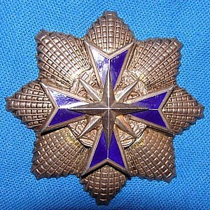 Star of South Africa, Silver - Breast star obverse