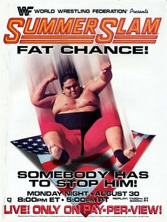 SummerSlam (1993) - Promotional poster featuring Yokozuna