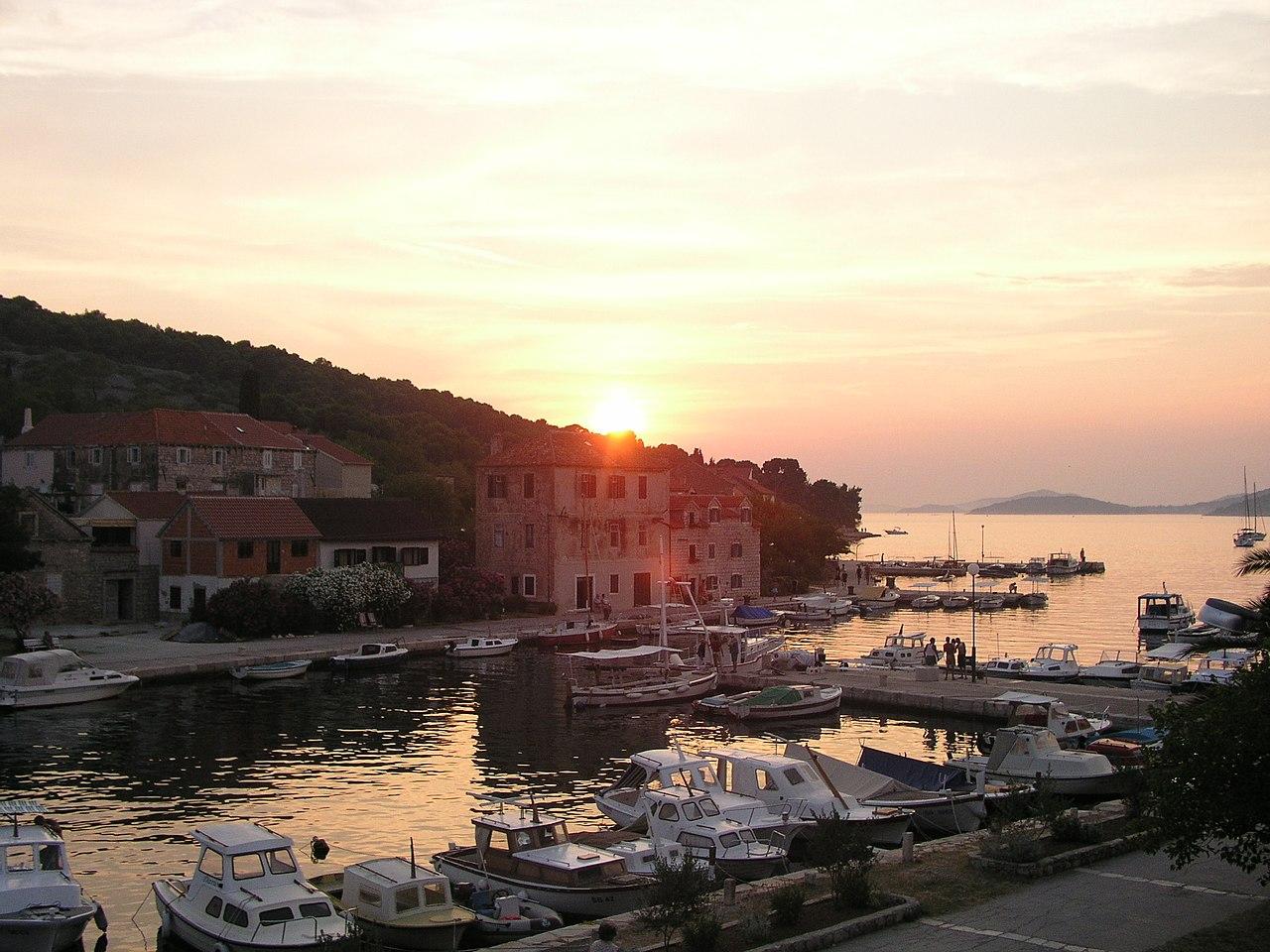 Sunset on Zlarin