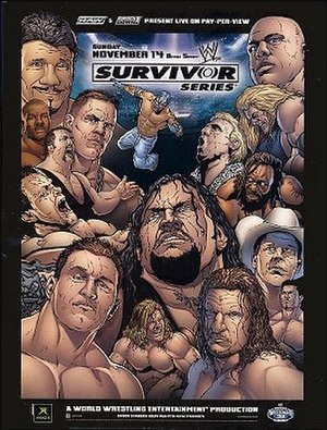 Survivor Series (2004) - Promotional poster featuring various WWE wrestlers