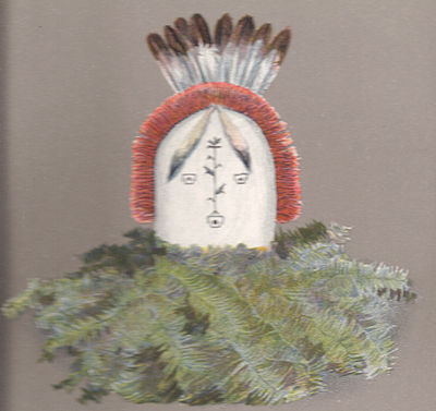 Image of mask of Haashch'ééłti'í from Matthews 1902 text