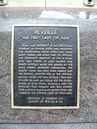 Reveille (dog) - The Cemetery Plaque