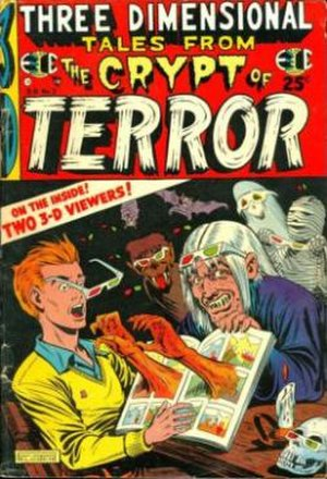 Three Dimensional E.C. Classics - Cover to Three Dimensional Tales from the Crypt of Terror. Art by Al Feldstein.