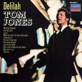 Delilah (Tom Jones album) - Image: Tom Jones Delilah