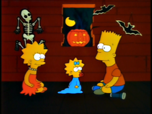 Bart and Lisa tell scary stories to each other...