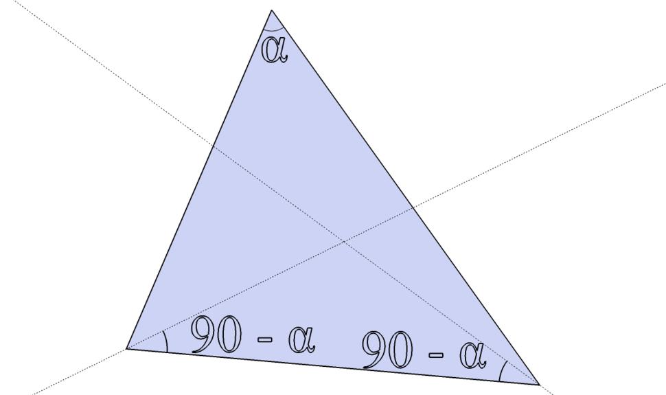 Triangle circumcenter alternate construction