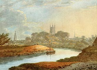Thomas Hearne (artist) - Image: View of Gloucester Thomas Hearne
