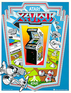 <i>Xevious</i> Vertical scrolling shooter arcade game released in 1983